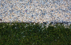 Gravel and Grass Stock Photo