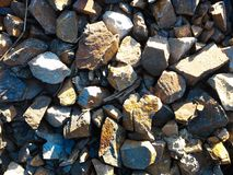 Gravel. From a construction site Royalty Free Stock Photo