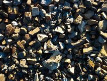 Gravel. From a construction site Royalty Free Stock Photography