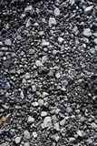 Gravel gray stone asphalt mix concrete Royalty Free Stock Image