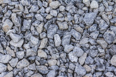 GRAVEL GRAY STONE. Mix concrete used in the construction of houses Stock Photos