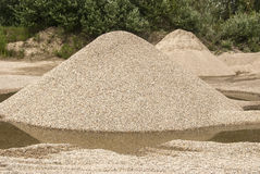 Gravel heap Stock Photo