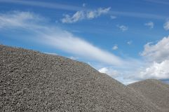 Gravel hill Royalty Free Stock Images