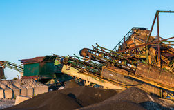 Gravel Machines Royalty Free Stock Image