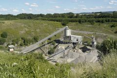 Gravel manufacturing plant Stock Photos