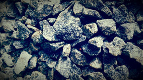 Gravel mettle stones piles Stock Image