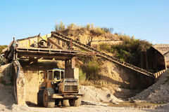 Gravel mine Royalty Free Stock Image