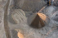 Gravel mine Stock Photo