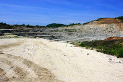 Gravel Mine. A gravel cave in northern Italy stock images