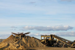 Gravel mining facility Stock Photos