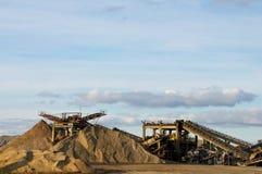 Gravel mining facility Stock Photos