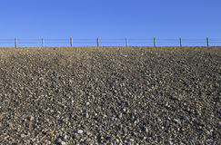 Gravel mound road. On the east coast in winter, USA Royalty Free Stock Photos