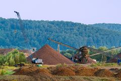 Gravel open pit mine. Royalty Free Stock Photos