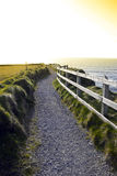 Gravel path along the cliff edge Royalty Free Stock Photography
