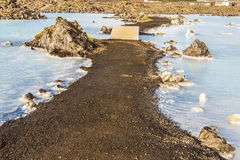Gravel path in Blue Lagoon - Iceland Stock Image