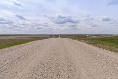 Gravel path in Canadian Prairies Stock Photography