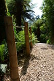 Gravel path in landscaped gardens. Stock Images
