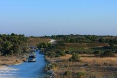 Gravel path through the nature reserve Kamenjak Stock Photos