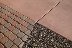 Gravel pavers concrete Royalty Free Stock Photo