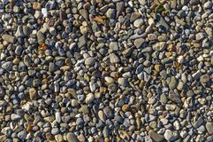 Gravel, pebbles as way fastening, natural flooring, drainage, bu royalty free stock photography