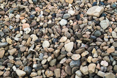 Gravel, pebbles . Backgrounds of gravel. Royalty Free Stock Images