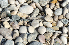 Gravel. Pebbles on the sea beach Royalty Free Stock Images