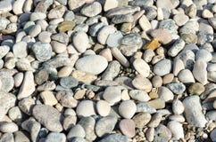 Gravel. Pebbles on the sea beach Royalty Free Stock Image