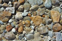 Gravel. Picture of gravel and stones on the beach Stock Photos
