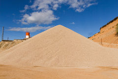 Gravel Pile in Gravel Pit Royalty Free Stock Images