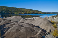 Gravel piles at brekke quarry, angle 2 Stock Images