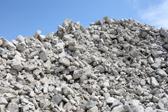 Gravel piles in a quarry. Abstract of gravel piles in a quarry Royalty Free Stock Images