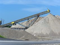 Gravel pit. In Central Iowa Royalty Free Stock Image