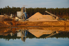 Gravel pit Royalty Free Stock Photography