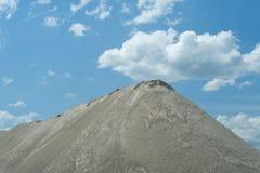 Gravel pit. Gravel storage in gravel pit Stock Images