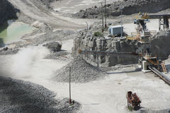 Gravel Pit. View of a gravel pit during operations Stock Image