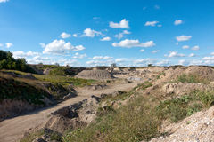 Gravel Pit and Equipment Royalty Free Stock Photo