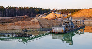Gravel-pit Stock Image