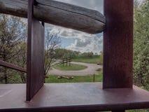 Gravel pit landart in Toerskind near Vejle, Denmark royalty free stock photos