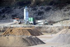 Gravel Pit machines Stock Images