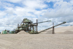 Gravel pit Royalty Free Stock Photos