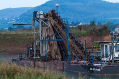 Gravel open pit mine. Royalty Free Stock Images