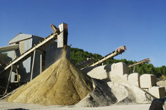 Gravel pit operation Stock Photo