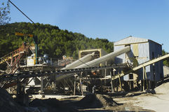 Gravel pit operation Royalty Free Stock Photos