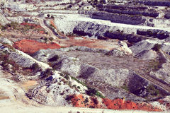 Gravel pit quarry Royalty Free Stock Photos