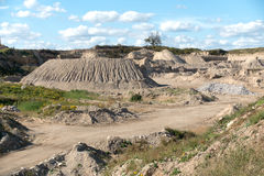 Gravel Pit in Rural Setting Royalty Free Stock Photos