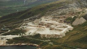 Gravel pit seen from the air. In Norway stock video footage