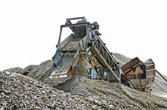 Gravel pit sieve Royalty Free Stock Photos