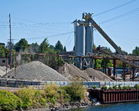 Gravel Pit With Silo Stock Image