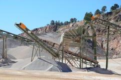 Gravel plant with belt conveyor Stock Photos
