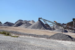 Gravel plant with heaps of gravel Stock Photography